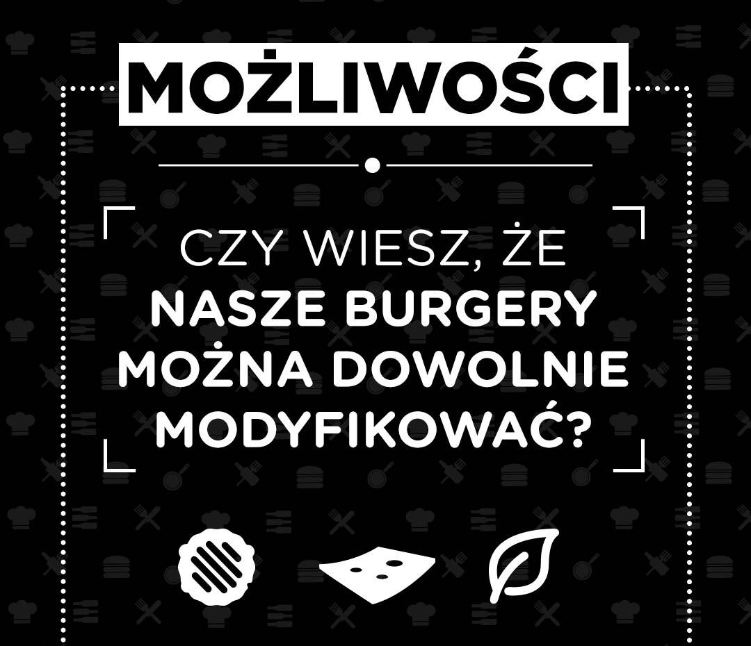 Pasibus - możliwości modyfikacji burgerów