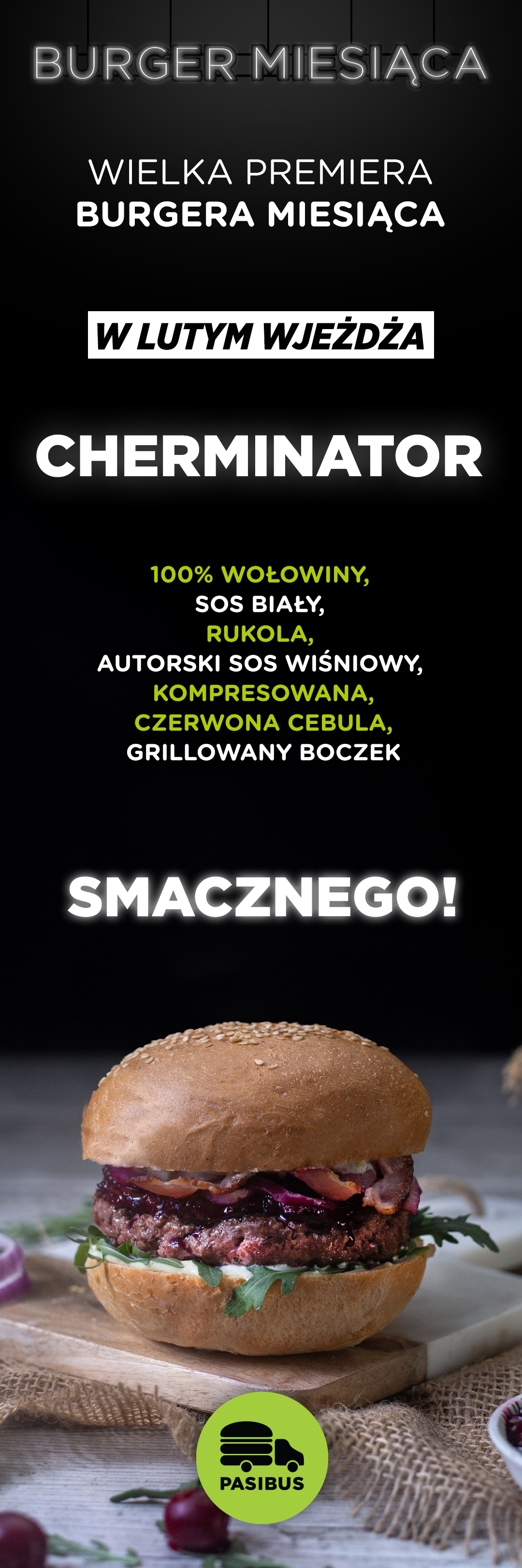 Przedstawiamy burgera miesiąca luty 2020 - Cherminator