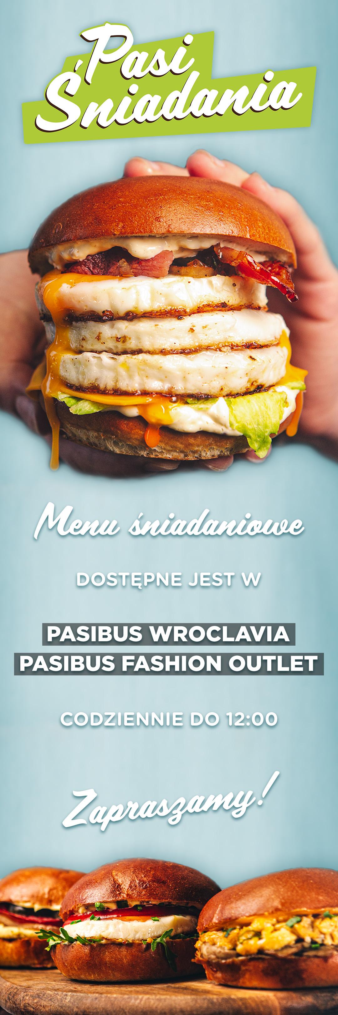 Nowość w Pasibus - menu śniadaniowe. Dostępne we Wroclavii oraz Fashion Outlet