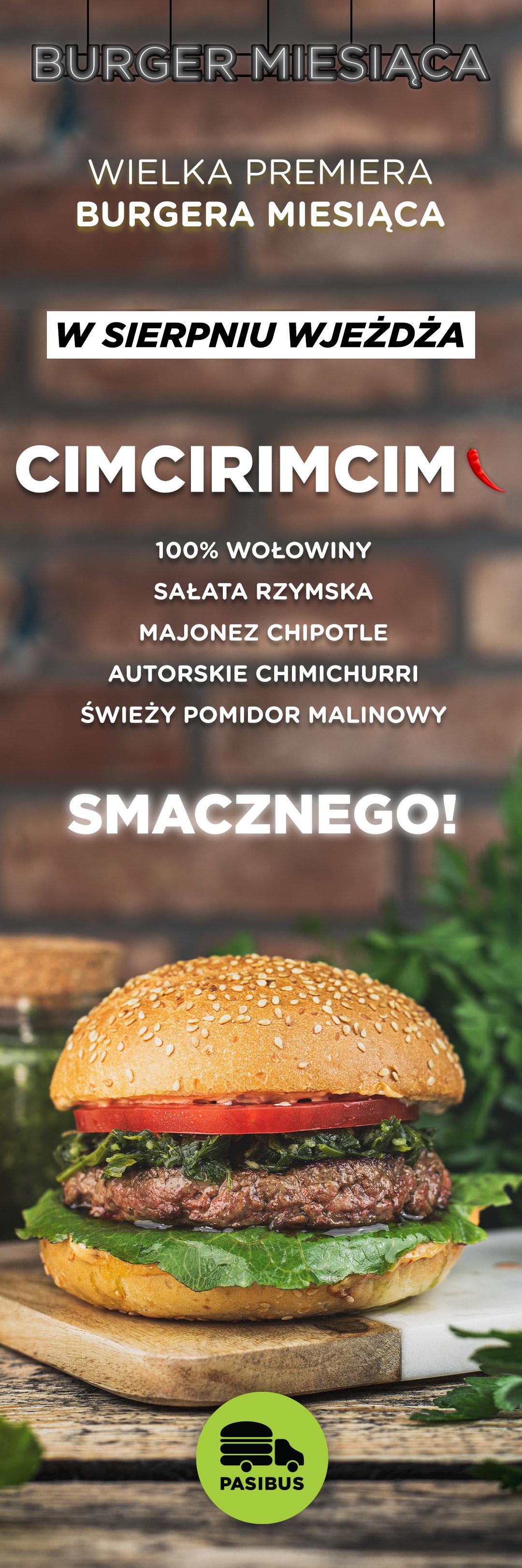 Przedstawiamy burgera miesiąca sierpień 2020 - Cimcirimcim