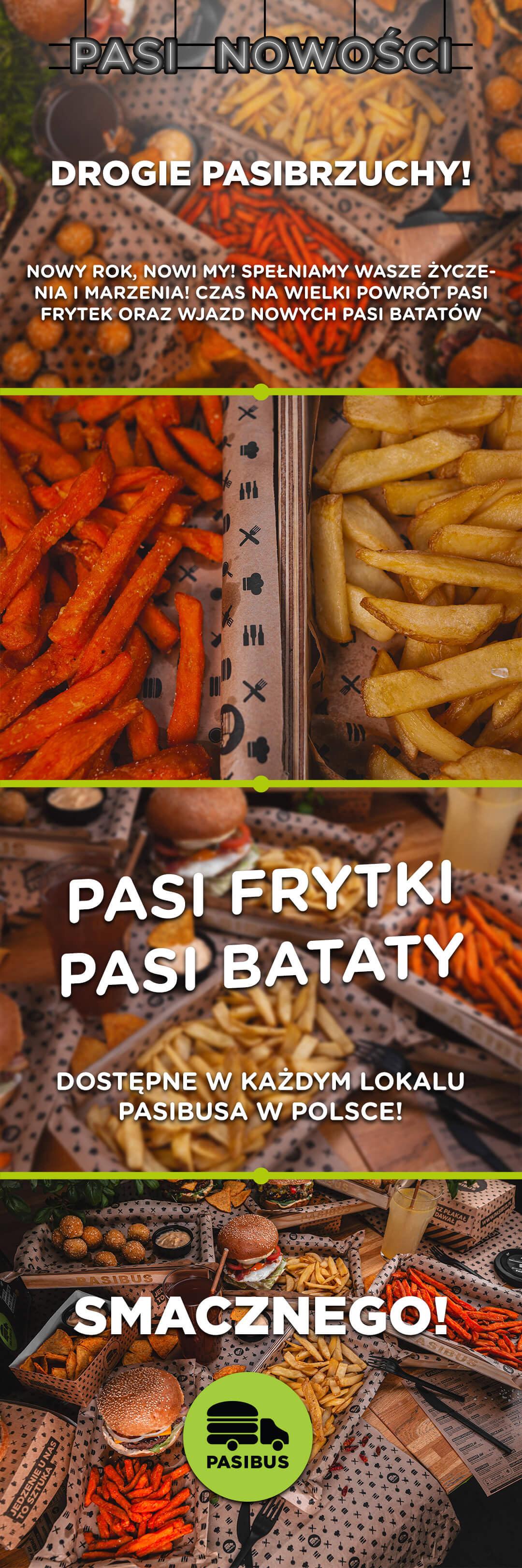 Nowość w Pasibus - Pasi bataty i powrót Pasi frytek