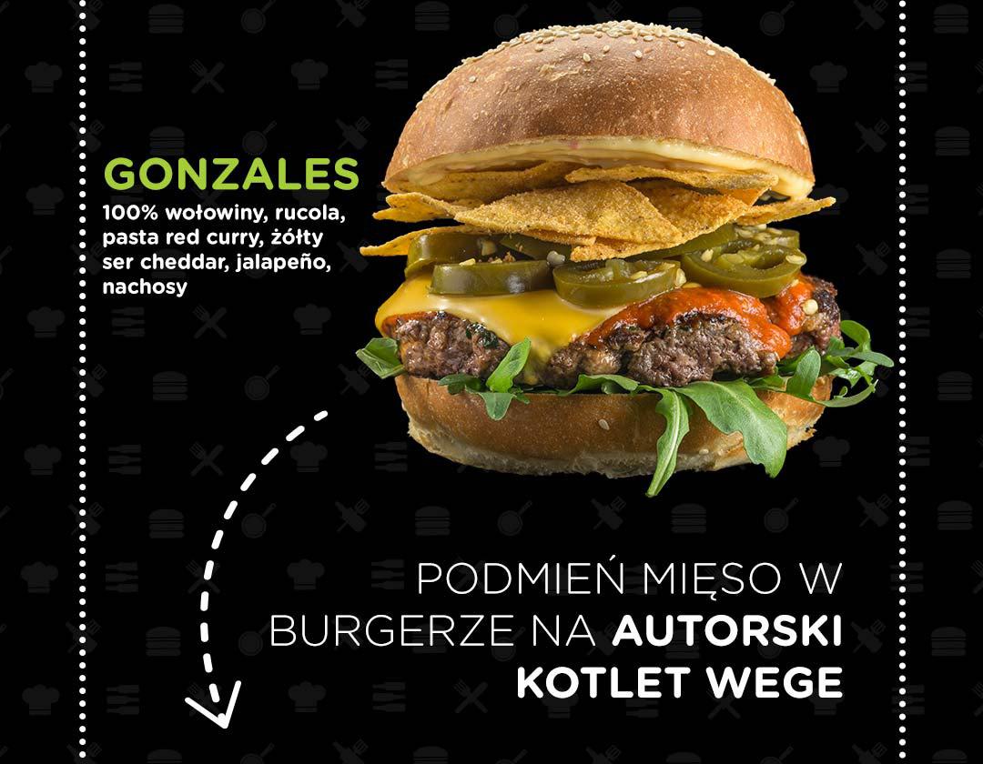 Pasibus - burger Gonzales - zamień mięso na autorski kotlet vege