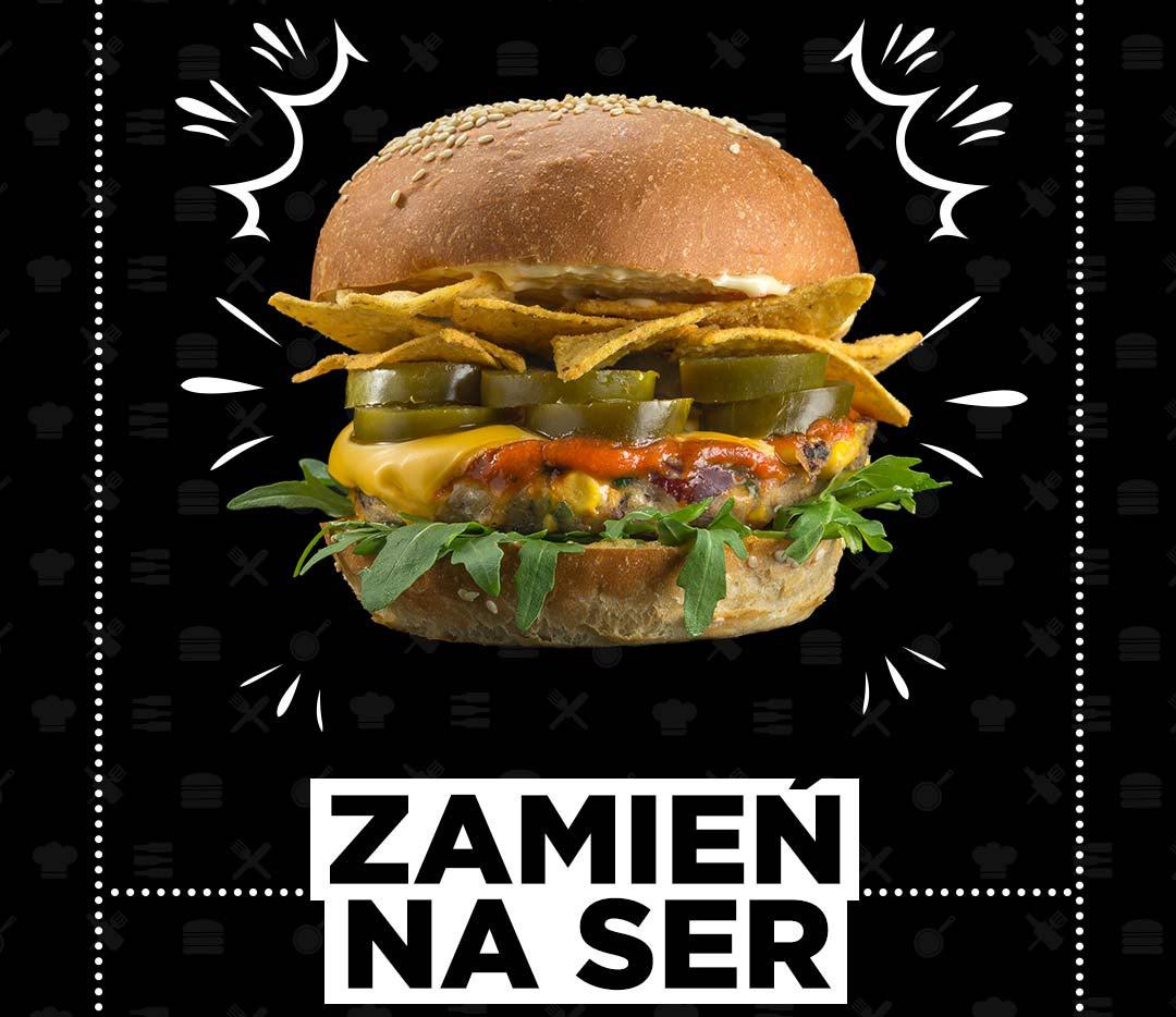 Burger Pasibus - zamień mięso na ser