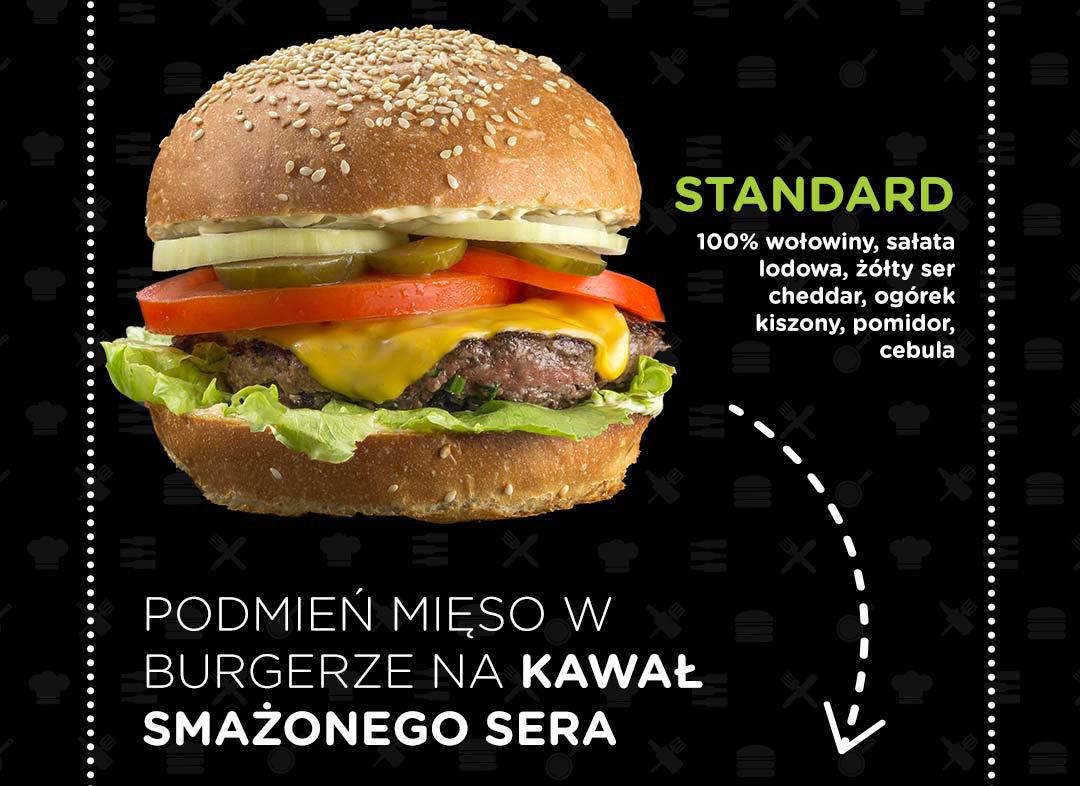 Pasibus - burger Standard - smażony ser zamiast mięsa