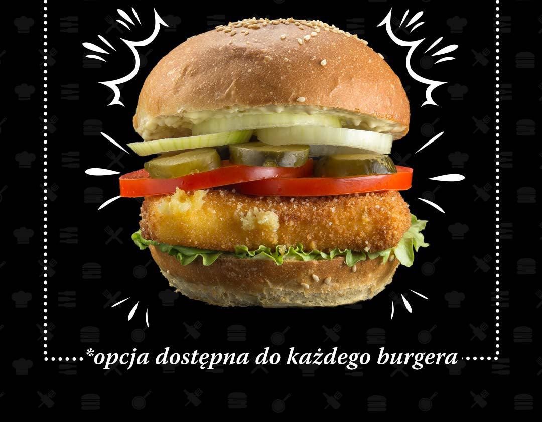 Pasibus - burger Standard w wersji ze smażonym serem